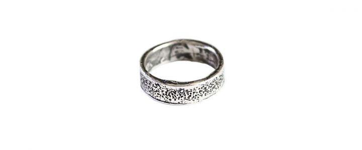 anello Teti, anello in argento 925 martellato e lucidato ?>