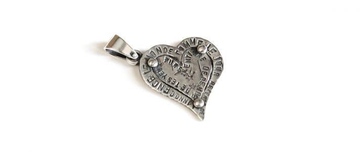 Ciondolo Eros. Un cuore in argento, con spazio per incidere un tuo pensiero. Il simbolo dell'Amore, by Talos Gioielli